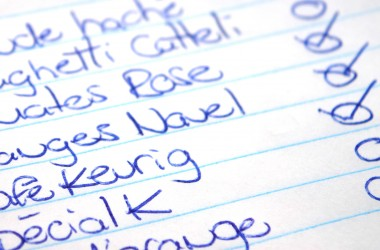 Liste d'épicerie
